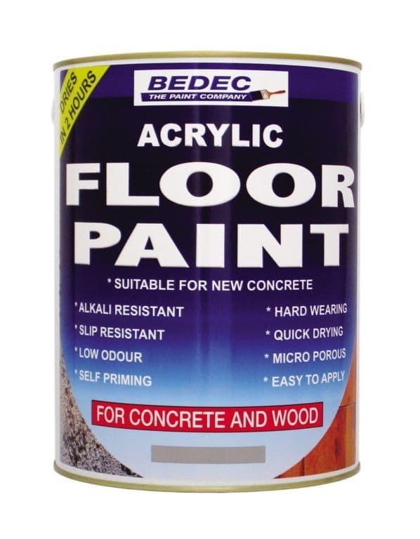 Bedec Acrylic Floor Paint 5L - Black